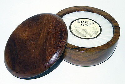 Mitchells Wool Fat Shaving Soap 125g & Hardwood Bowl (3 Types)