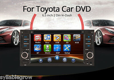 "6.5"" 2Din Car WIFI Blubooth Radio Audio GPS Media DVD Player for Toyota Free Map"