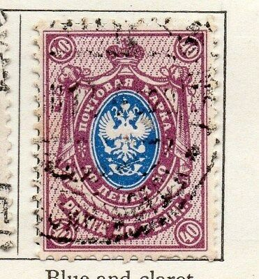 Finland 1901 Early Issue Fine Used 40p. 099102