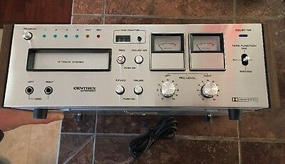 PIONEER Centrex RH-65 8-Track Recorder/ Player Dual Analog Meters W/ Cleaner