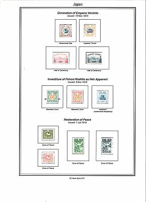 Print a Japan Stamp Album Completely Annotated & Colour illustrated todo color