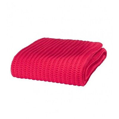 Red Chunky Knit Knitted Soft Cosy Throw Blanket Wrap By Catherine Lansfield NEW