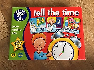 """Orchard Toys - """"Tell the Time"""" Educational board game"""