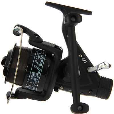 Carp Fishing Reel Lineaeffe All Black 60 + Line + Spare Spool Low Price!