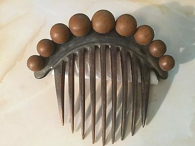 Antique / Vintage Hair Comb made out of Cattle Bone