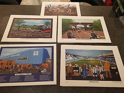 5 x Sheffield Wednesday Ltd Edition A3 Prints - Local Artist Pictures
