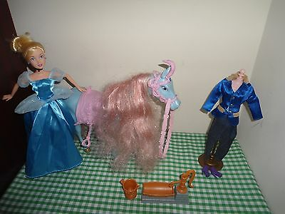 cinderella doll and horse with trotting neighing sound