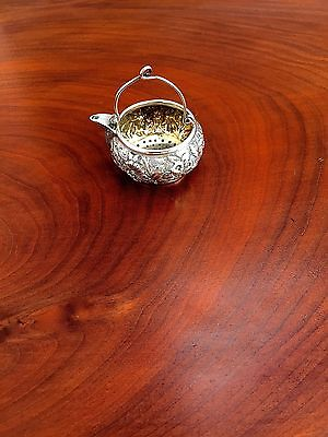Jacobi & Jenkins for J E Caldwell Repousse American Sterling Silver Tea Infuser