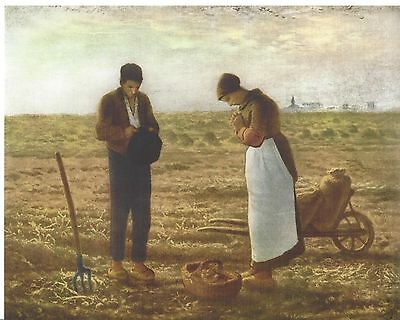 Catholic Print Picture Religious THE ANGELUS by Millet 8x10 from Italy