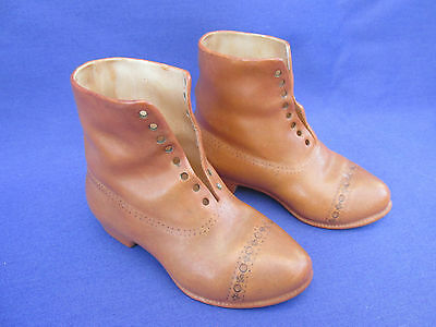 Unusual pair of Victorian style china boots