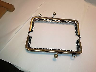 Bag Frame Arch Purse Sew In Pinch Kiss Clasp 6 Inches 15cms With Chain Loops