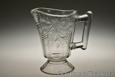 c. 1880s DUQUESNE AKA WHEAT AND BARLEY by Bryce Bros. CRYSTAL Cream Pitcher