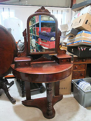 Victorian Mahogany 'Duchess' Style Demi-Lune Dressing Table c.1870 [9400]