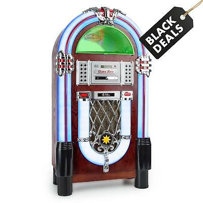 Jukebox vintage multimédia lecteur vinyle platine CD Bluetooth USB SD AUX FM
