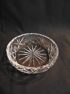 Fine cut glass/crystal butter or preserve dish