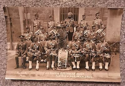 Vintage Army Post Card, Band of H.M. Indian Army, The Glen, Durdham Down