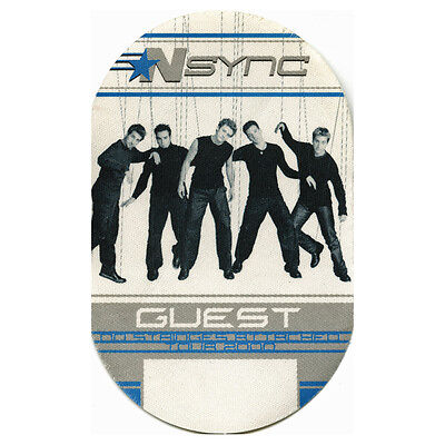 NSYNC authentic Guest 2000 tour Backstage Pass