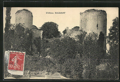 remarquable CPA Salbart, Chateau 1912