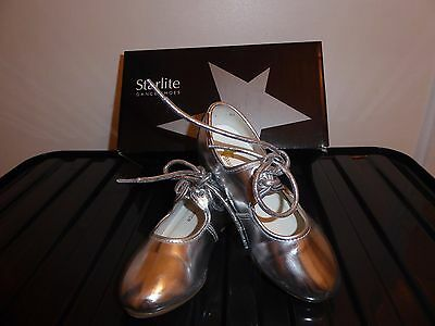 Starlite Girls Tap Shoes Colour Silver  Uk8