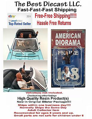 Seated Couple night out American Diorama 1:18 or 1:24  2 Figures Version 1 or 2