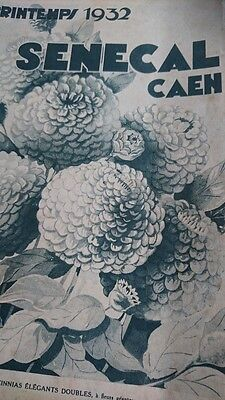SUPERB ANTIQUE FRENCH SEED PLANT GARDEN CATALOGUE SENECAL OF CAEN dated 1932