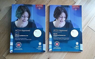 ACCA Bpp F4 Text book and Practice & Revision book
