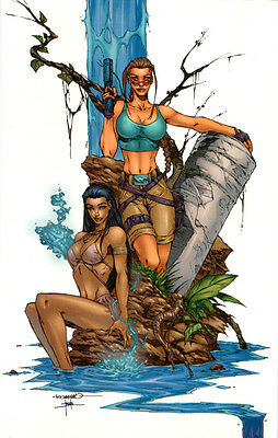 Tomb Raider Ultra Rares Hardcover Fathom Variant Exclusive Cover By Romano Aspen