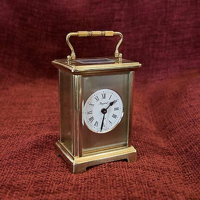 Bayard Clock (8 Day) Brass Carriage Clock - Vintage French Duverdrey Bloquel 80