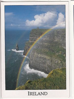 BF30555 rainbow at the clifs of mother co clare ireland   front/back image