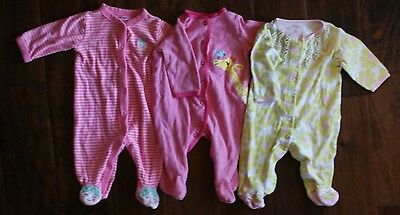 Carter girls one piece outfits lot  size 3 months