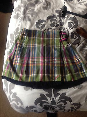 Girls Joules Wrap Over Checkered Skirt Age 9-10
