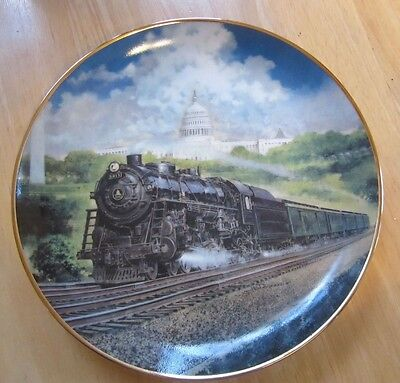 The Capitol Limited by Jim Deneen Collector Railroad Plate, Danbury Mint, Papers