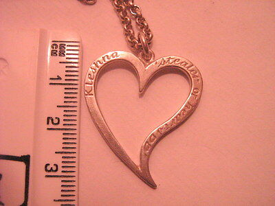 large designer kleshna stearler of heart pendant and chain solid silver