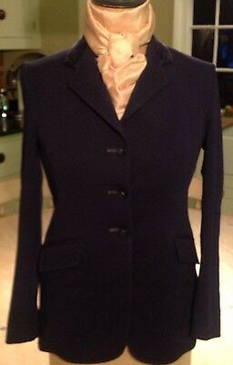 Child's Navy Blue Quorn Riding Jacket With Velvet Collar