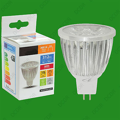 2x 4W =35W Long Barrel MR16 GU5.3 12V DC 3000K C.White LED Spot Light Bulb Lamp