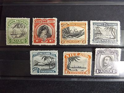 Br Commonwealth , Niue - 1932 to 36 Definitive Set,  SG#62 to 68 MM