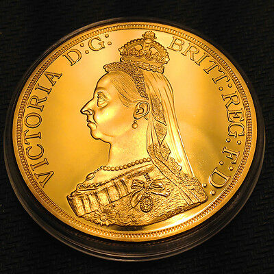 Queen Victoria.1oz COMMEMORATIVE GOLD PLATED 1887 CROWN COIN