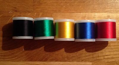 5 Reels of Madeira Rayon Machine Embroidery Threads