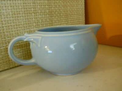 Taylor, Smith & Taylor Luray-Pastels Vintage 1940's 8 oz Blue Cream Pitcher USA