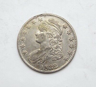 BARGAIN 1832 Capped Bust/Lettered Edge Half Dollar EXTRA FINE Silver 50-Cents