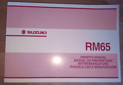Suzuki owners service manual 2003 RM65