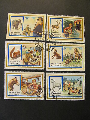Fujairah Stamps Serie Of 6 Stamps Used Hinged.