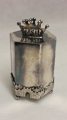 1871 Russian silver 84 jewish coin cup.Judaica bank