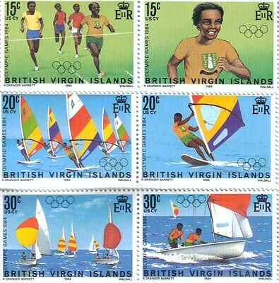 Set of MNH Postage stamps from British Virgin Islands - 1984 - Olympic Games