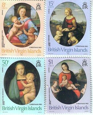 Set of MNH Postage stamps from British Virgin Islands - 1983 - Christmas