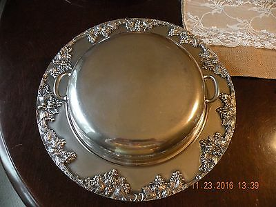 Antique Keystone Silverplate Covered Serving Dish