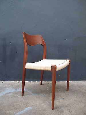 No 2 Vintage Moller model 71 Danish Teak Dining Chair retro wegner juhl vodder