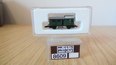 E126:  Marklin 'Z' Gauge 8609 Baggage Car with Sliding Doors (Exc & Boxed)
