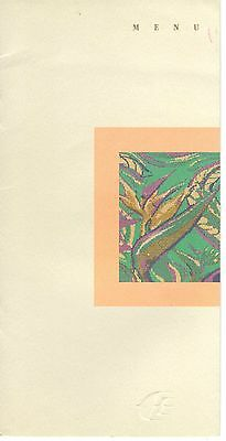 Vintage Malaysia Airlines Menu October 1993 London To Kuala Lumpur Mh1