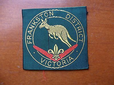 Frankston District Australia  Scout Cloth Badge #
